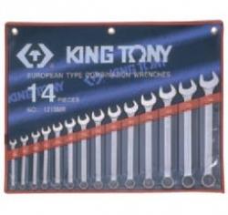 Kpl. kluczy płasko-oczkowych 14cz. 10 - 32mm,  ETUI