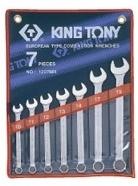 Kpl. kluczy płasko-oczkowych  7cz.  8-19mm,  ETUI