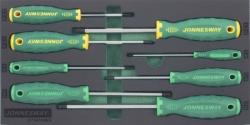 Kpl. 8szt. wkrętaków ampulowych z kulką i krzyżakowych POZI we wkładce EVA Jonnesway