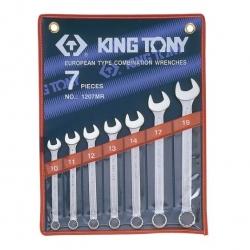Kpl. kluczy płasko-oczkowych  7cz. 10-19mm,  ETUI