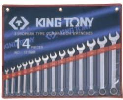 Kpl. kluczy płasko-oczkowych 14cz. 8 - 24mm,  ETUI