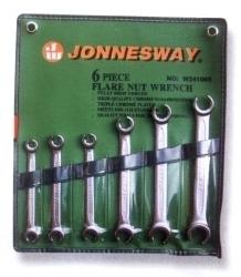 Kpl. kluczy oczkowych otwartych 6szt. Jonnesway