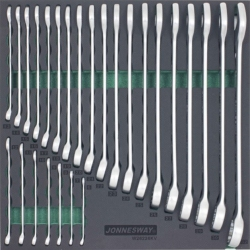 Kpl. 26szt. kluczy płasko-oczkowych we wkładce EVA Jonnesway