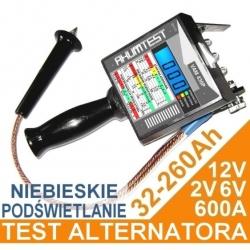 Tester akumulatora VAM 430 12V, 6V i 2V z podświetleniem