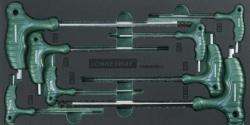 Kpl. 8szt. kluczy kątowych ampulowych z uchwytem we wkładce EVA Jonnesway