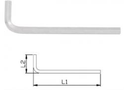 Klucz 6-kątny gięty IMBUS długi