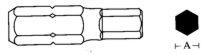 Końcówka 6-kątna ampulowa długa