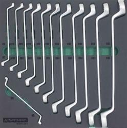 Kpl. 12szt. kluczy oczkowo-giętych we wkładce EVA Jonnesway