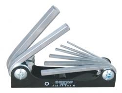 Kpl. kluczy 6-kąt. 8 szt. 2 - 10mm, uchwyt scyzorykowy