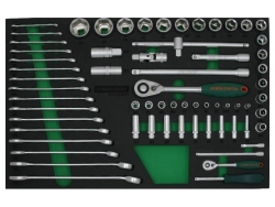 Kpl. narzędzi 65szt. we wkładce EVA Jonnesway