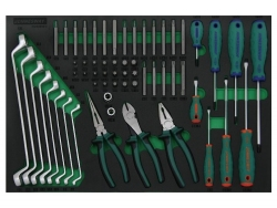 Kpl. narzędzi 59szt. we wkładce EVA Jonnesway