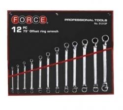Zestaw 12 kluczy oczkowych-odgiętych 6-32mm Force