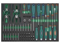 Kpl. narzędzi 57szt. we wkładce EVA Jonnesway
