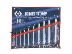 Kpl. kluczy oczkowych odgiętych  75°  10cz.  6 - 32mm