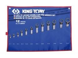Kpl. kluczy oczkowych odgiętych  75°  12cz.  6 - 32mm