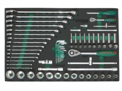 Kpl. narzędzi calowych 69szt. we wkładce EVA Jonnesway