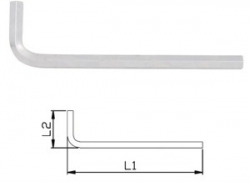 Klucz 6-kątny gięty IMBUS bardzo długi (RÓŻNE ROZMIARY)