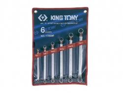 Kpl. kluczy oczkowych odgiętych  75°   6cz.  6 - 17mm
