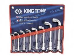 Kpl. kluczy fajkowych  8szt. 8-19mm KING TONY