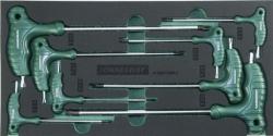 Kpl. 8szt. kluczy kątowych TORX z uchwytem we wkładce EVA Jonnesway
