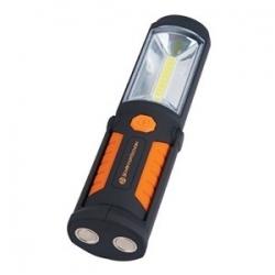 Lampa warsztatowa COB LED + 5LED z regulowanym uchytem