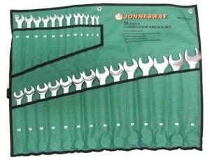 Kpl. kluczy płasko-oczkowych 26 szt. 6-32mm Jonnesway
