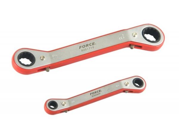 Zestaw 8 kluczy oczkowych z grzech. 6-22mm Force